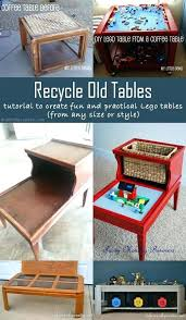 large lego table with storage play table with storage tutorial to recycle old tables and create