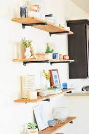 ... Wall The Easiest Diy Industrial Shelving Tutorial Rectangular Wooden  Material Metal Holder Bottom Picture Frame Rack Building ...