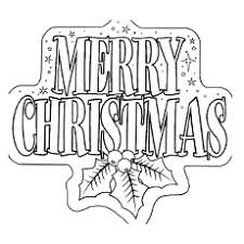 merry christmas coloring page. Simple Merry Merry Christmas Banner Printable Coloring Page Throughout H