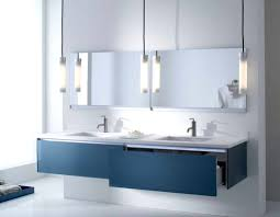 contemporary bathroom lighting. Hanging Vanity Lights Contemporary Bathroom Lighting With Glass Pendant Lamp Design Ideas Over Blue Wall Mounted