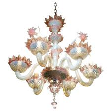 blown glass chandelier pink and white with flowers circa for hand chandeliers chihuly