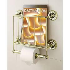 Toilet Paper Holder With Magazine Rack Estate 100K Gold Finish Magazine Rack Toilet Paper Holder Free 85