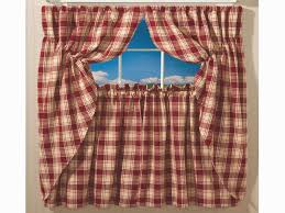 plaid kitchen curtains awesome appealing luxury red plaid kitchen curtains taste with image