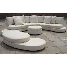 leather white c shape sofa set shape