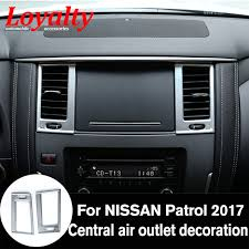 2018 nissan y62. plain nissan loyalt abs chrome interior central air outlet frame trim for nissan patrol  y62 armada 2017 2018 on nissan y62