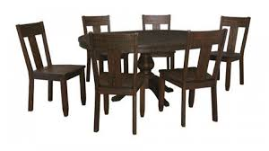 ashley furniture trudell 7pc round table dining room set the classy home
