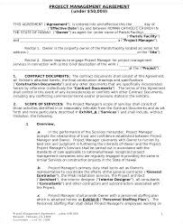Project Contract Templates Restaurant Management Agreement Template Event Contract Hotel Form ...