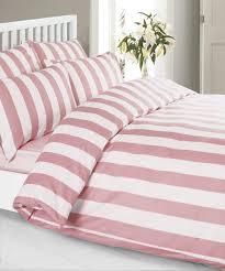 louisiana stripe duvet cover set 100 cotton 200 thread count pink