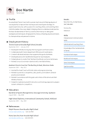 Sample Sports Resume Tennis Coach Resume Templates 2019 Free Download Resume Io