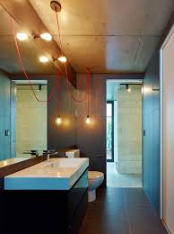 bathroom lighting design modern. Creative Design Solutions Implemented In Modern House On A Slope With Bathroom Lighting The Excellent