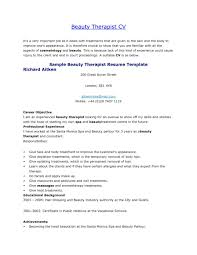Beautician Job Description Cover Letter Sample Physical Therapy