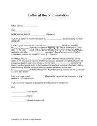 requesting a promotion letter free military letter of recommendation templates samples and