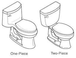 One-piece toilets integrate tank and bowl into a seamless, space-saving  design that is easy to clean. Some low-profile models can be installed  under a ...