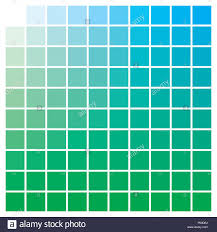 Blue In Green Chart Cmyk Color Chart To Use In Prepress And Printing Used To