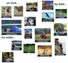 outdoor activities collage. Plain Outdoor For Outdoor Activities Collage C