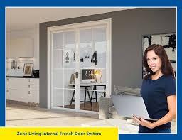 zone living internal french door living image