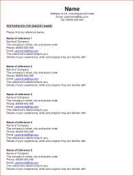 Reference In Resume Sample Best Resume Gallery References Letters