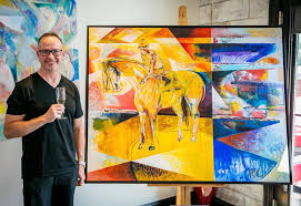 Former trainer Seth Benzel making mark in <b>abstract art</b> | News ...