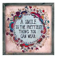a smile is the prettiest thing you can wear weathered rustic wall art decor quote gift for teen tween young girl first apartment home girly room pinterest  on tween canvas wall art with a smile is the prettiest thing you can wear weathered rustic wall