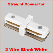 2 Wire Led Lights Us 4 9 1 Phase Circuit 2 Wire Led Track Light Rail Connector Track Fitting Straight Middle Feed Connector Aluminum Track Accessories In Track