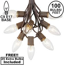 Clear Christmas Lights With Brown Cord C9 Clear Christmas String Light Set Outdoor Christmas Light String Christmas Tree Lights Hanging Christmas Lights Roofline Light String