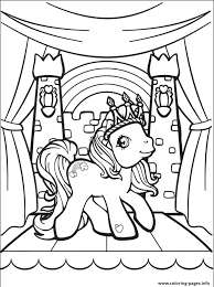 Small Picture rainbow my little pony kingdom Coloring pages Printable