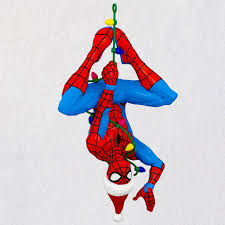 Spiderman Christmas Lights Marvel Spider Man Here Comes Spidey Claus Ornament