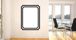 whiteboard frame wall decals dezign