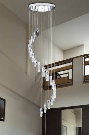 Long Drop Stairwell Pendant Lights Searchlight Sculptured Ice 20 Light Ceiling Multi Drop