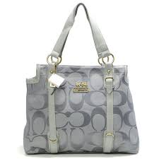 Coach Logo Monogram Large Grey Totes 20561