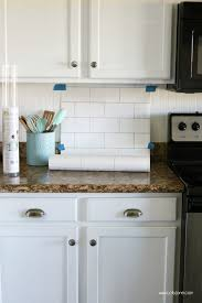 faux kitchen tile wallpaper. faux subway tile backsplash wallpaper kitchen t