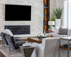 family room ideas with tv. Inspiration For A Contemporary Dark Wood Floor Family Room Remodel In Jacksonville With Ribbon Fireplace Ideas Tv I