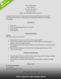 Example Of Caregiver Resume Examples Of Resumes