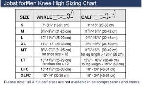 Jobst Hose Size Chart Details About Jobst Mens 20 30 Mmhg Closed Toe Knee High Support Socks