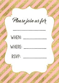 pink and gold invitations printable paper trail design pink and gold invitations printable