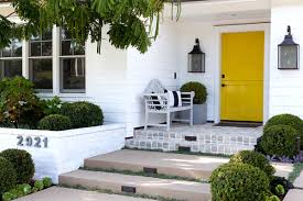 front door benchFront Porch Makeover Ideas