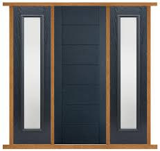grp modica grey front door with sidelights