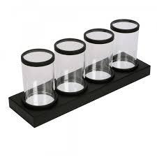 quadruple glass candle holder