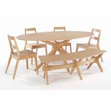 table 4 chairs and bench. kitchen: wonderful wood dining tables with benches design wooden table furniture oval untreated set 4 chairs and bench