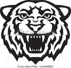 tiger head clip art black and white. Tiger Head Tattoo For Clip Art Black And White
