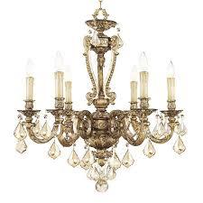 livex lighting chateau 6light vintage gold leaf chandelier gold leaf chandelier c87