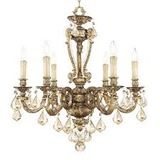 livex lighting cau 6 light vintage gold leaf chandelier