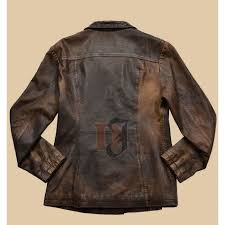 women distressed brown stylish leather jacket womens brown jackets