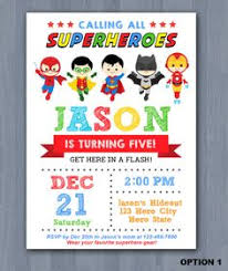 superheroes birthday party invitations superhero birthday invitations printable digital file