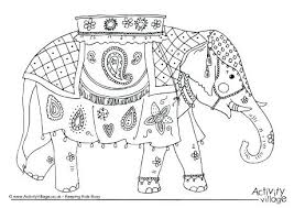 Coloring Page Of Elephant Elephant Coloring Pages For Adults