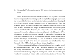 compare the war communism and the nep in terms of origins  document image preview