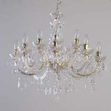 crystal chandelier uk with marie therese 12 light dual mount gold from litecraft