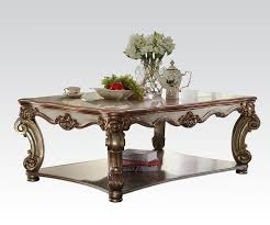 vendome traditional gold patina coffee table
