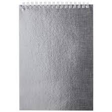<b>Блокнот Hatber</b> Metallic <b>А5</b> 80 листов серебристый в клетку на ...
