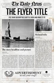 Creative Newspaper Template 2x1 Page Newspaper Template Indesign